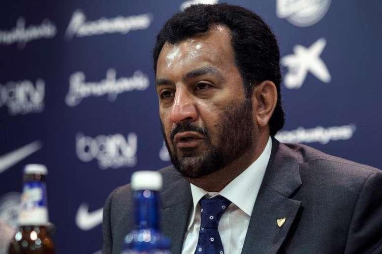 Al-Thani repasó la situación del Málaga. EFE