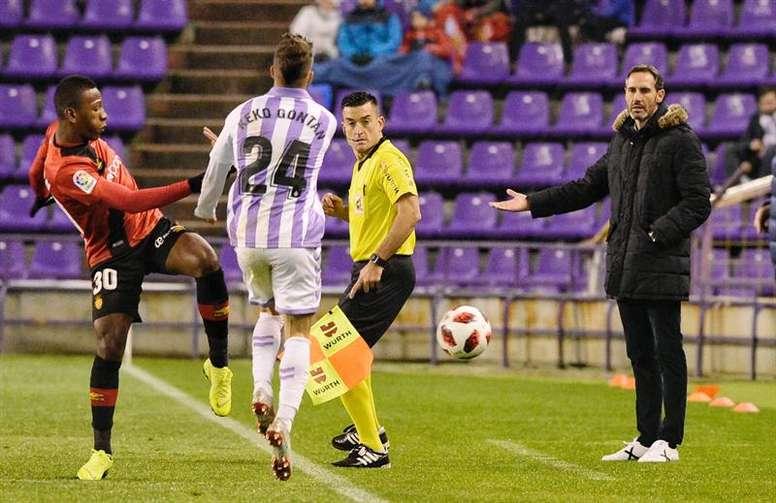 Vicente Moreno ha llevado al Mallorca al 'play off'. EFE