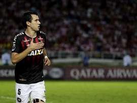 Pablo logró su cuarto gol en la Sudamericana. EFE