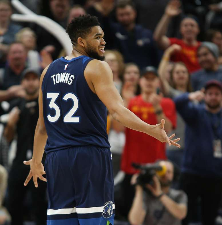 Karl-Anthony Towns de Minnesota Timberwolves. EFE/Archivo