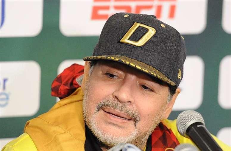Maradona will continue as Dorados coach for another year. EFE