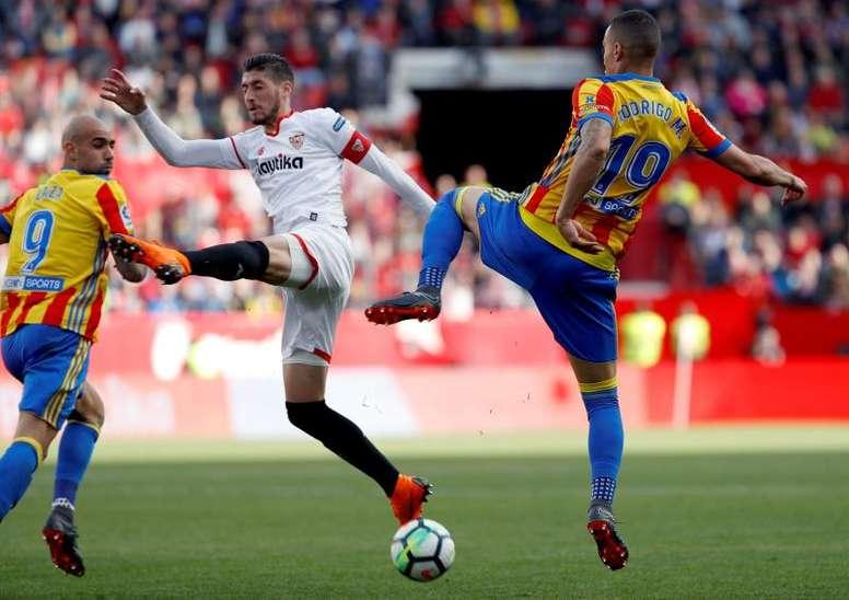 El Valencia recibe al Sevilla. EFE/Archivo