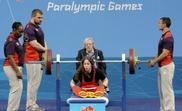 La levantadora de peso paralímpica española Loida Zabala con motivo de los Juegos Paralímpicos Londres 2012. EFE/Archivo