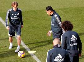 Marcelo torna ad allenarsi col resto dei compagni. EFE