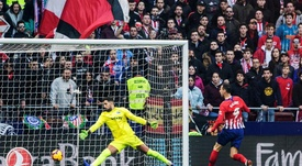 Kalinic marcó su primer gol en Liga. EFE