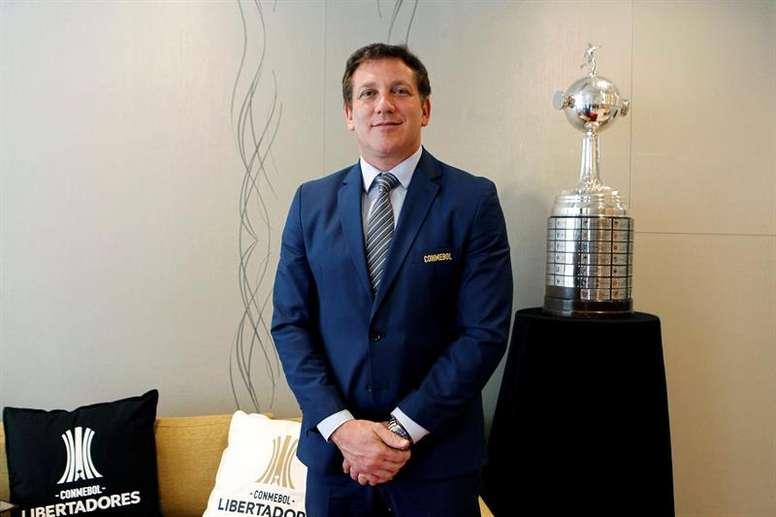Alejandro Domínguez quiere expandir el fútbol sudamericano. EFE