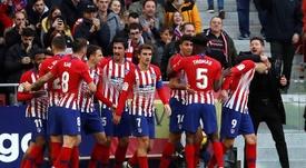 El Atlético fue el mejor club en 2018. AFP