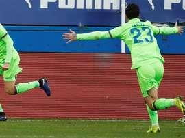 Borja Mayoral se reencontró con el gol en el mejor momento. EFE