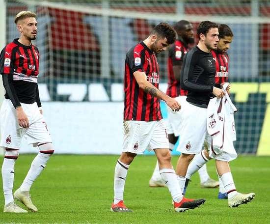 El Milan no aprovechó los tropiezos. EFE