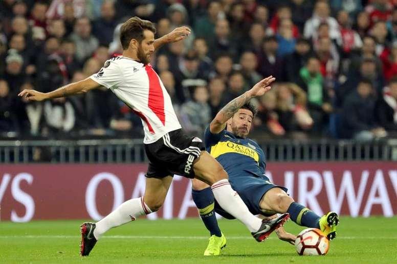 Ponzio, titular en la final de la libertadores, renovará con River Plate. EFE