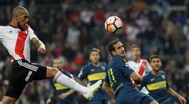 Seis meses de la victoria de River Plate en el Bernabéu. EFE