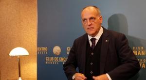 Tebas analizó el River-Boca del Bernabéu. EFE/Archivo