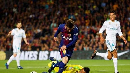 Keylor só levou cinco gols contra o Barcelona no Camp Nou. EFE/Archivo