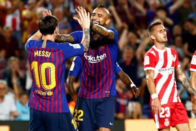 Valverde medita jugar con Vidal de delantero centro. EFE/Archivo