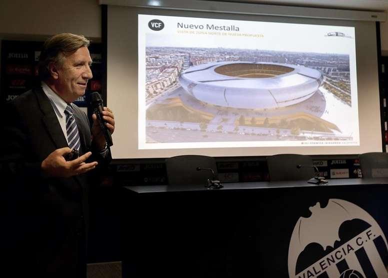El nuevo estadio del Valencia estará listo en 2022. EFE