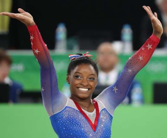 En la imagen, la gimnasta estadounidense Simone Biles. EFE/Archivo
