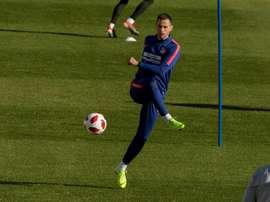 La Roma pourrait chercher un plan B en cas de retour de Kalinic à l'Atlético. EFE
