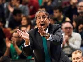 El entrenador de Unicaja Luis Casimiro. EFE