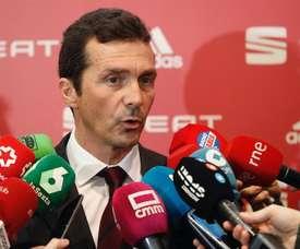 Guillermo Amor no quiso hablar sobre la posibilidad de que el Barça fiche a Isco. EFE