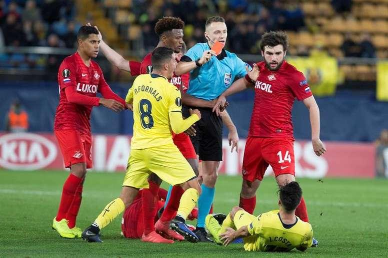 El dueño del Spartak de Moscú amenaza con retirar al equipo por los arbitrajes. EFE