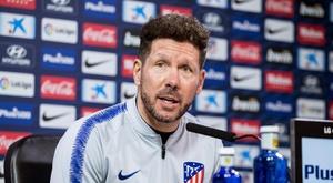 O técnico do Atlético de Madrid, Diego Simeone. EFE