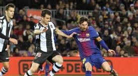 Leo Messi Sergio Postigo (i). EFE/Archivo