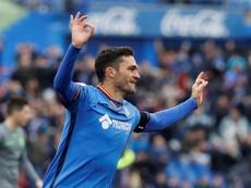 Jorge Molina se mostró contento por su gol. EFE