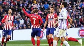 El Atlético venció con sufrimiento al Valladolid por 2-3. EFE