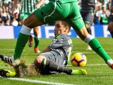 Gorosabel cayó lesionado ante el Getafe. EFE