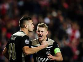 Tadic scored a beautiful curler to tighten Ajax's grip. EFE