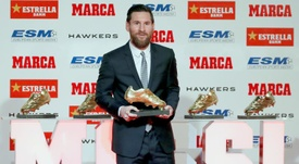 Messi will receive another Golden Boot this Wednesday. EFE