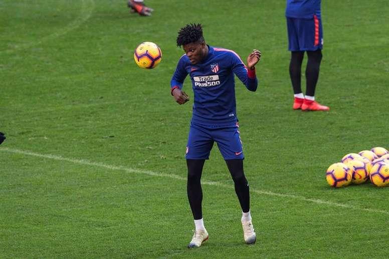 Thomas Partey podría salir del Atlético. EFE