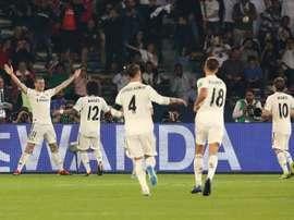 Il Madrid giocherà sabato pomeriggio contro l'Al Ain. AFP