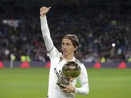 Modric relembrou o momento em que soube que seria o Bola de Ouro. EFE