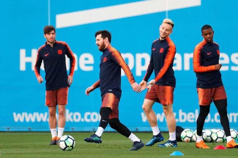 Le groupe du FC Barcelone pour affronter le Celta Vigo en Liga. EFE