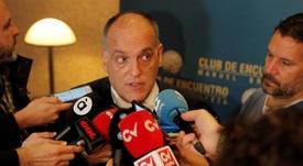O presidente de LaLiga falou sobre as atualidades. EFE/Archivo