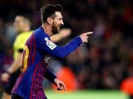 Messi marque souvent lors de cette date. EFE