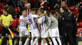 El Valladolid solo ha ganado cuatro veces en Bilbao. EFE