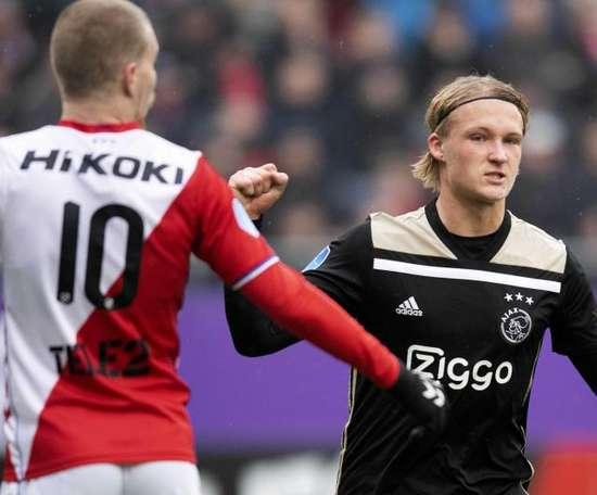 Kasper Dolberg deixa o Ajax. EFE