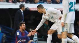 Messi também sente falta de CR7. EFE/Archivo