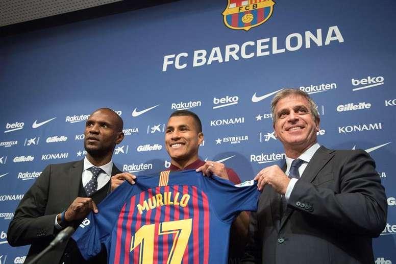 Murillo fue presentado como jugador del Barcelona. EFE