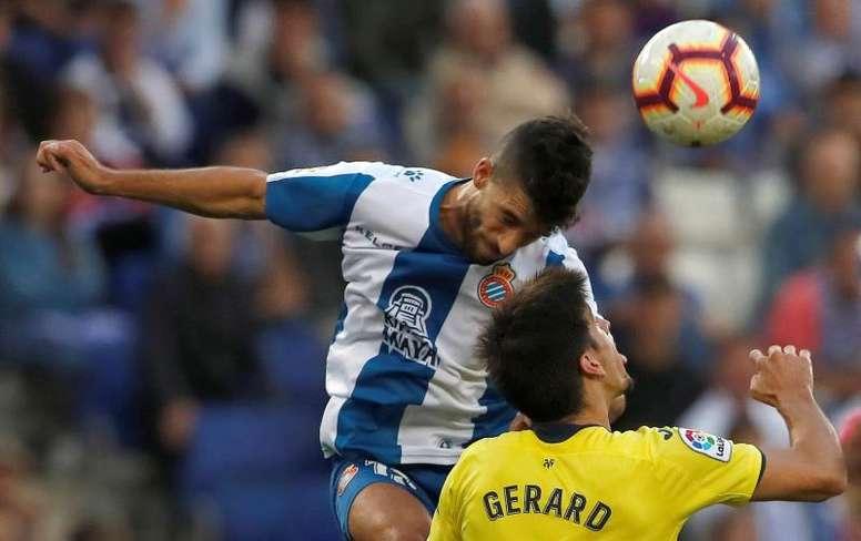 Marc Roca analizó la actualidad del Espanyol. EFE