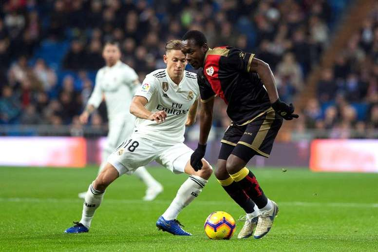 Marcos Llorente knows he will not be at Real Madrid next season. EFE/Archivo