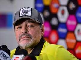 Maradona mandó un mensaje a la afición. EFE/Archivo
