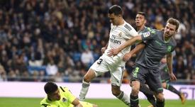 Illarramendi celebró los tres puntos ante el Madrid. EFE