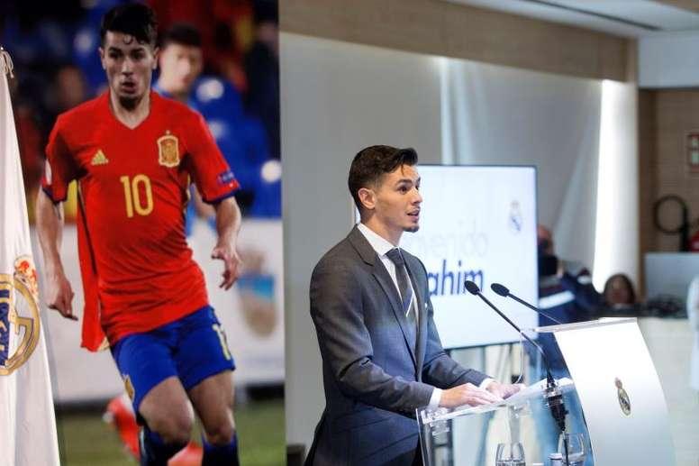 Brahim a été présenté comme nouveau joueur du Real Madrid. EFE