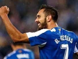 Borja Iglesias anotó dos goles y provocó un penalti. EFE