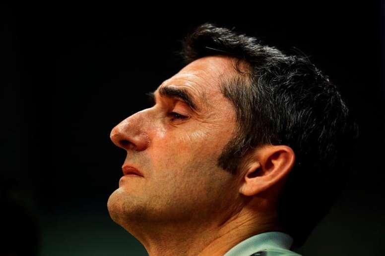 Valverde no tiene ningún delantero puro. EFE