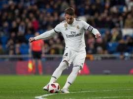 Sergio Ramos abriu o placar para o Real. EFE