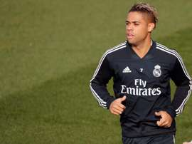 Real Madrid forward Mariano during training. EFE